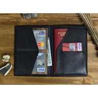Walt RFID Paspoort Houder - Echt Leer - Zwart