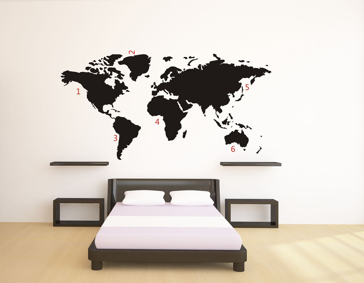 Channeldistribution world map wall sticker black world map wall sticker black gumiabroncs Image collections