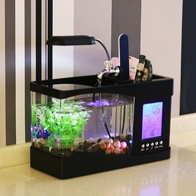 channel distribution gifts en gadgets usb aquarium schreibtisch organizer. Black Bedroom Furniture Sets. Home Design Ideas