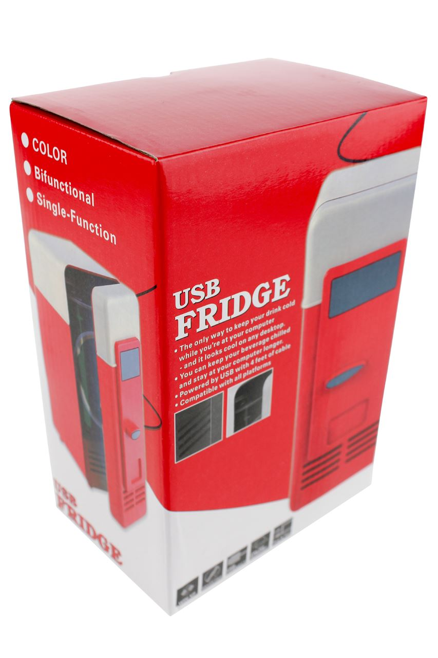 channel distribution gifts en gadgets usb bureau koelkast met led lampje rood. Black Bedroom Furniture Sets. Home Design Ideas