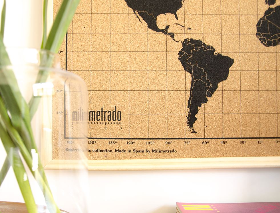 Channel distribution gifts en gadgets milimetrado world map milimetrado world map corkboard with wooden frame natural gumiabroncs Choice Image