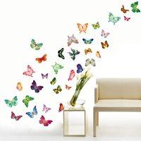 Walplus Home Decoratie Sticker - Gekleurde Vlinders