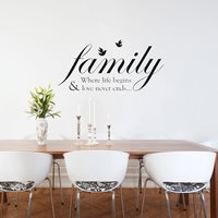 Walplus Muur Decoratie Sticker - Familie Quotes