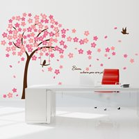 Walplus Home Decoratie Sticker - Roze Kersen Bloesem