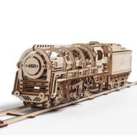 Ugears Houten Modelbouw - Locomotief met Tender