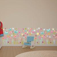 Walplus Kids Decoration Sticker - Colourful Summer Skirting with 20 Swarovski Crystals