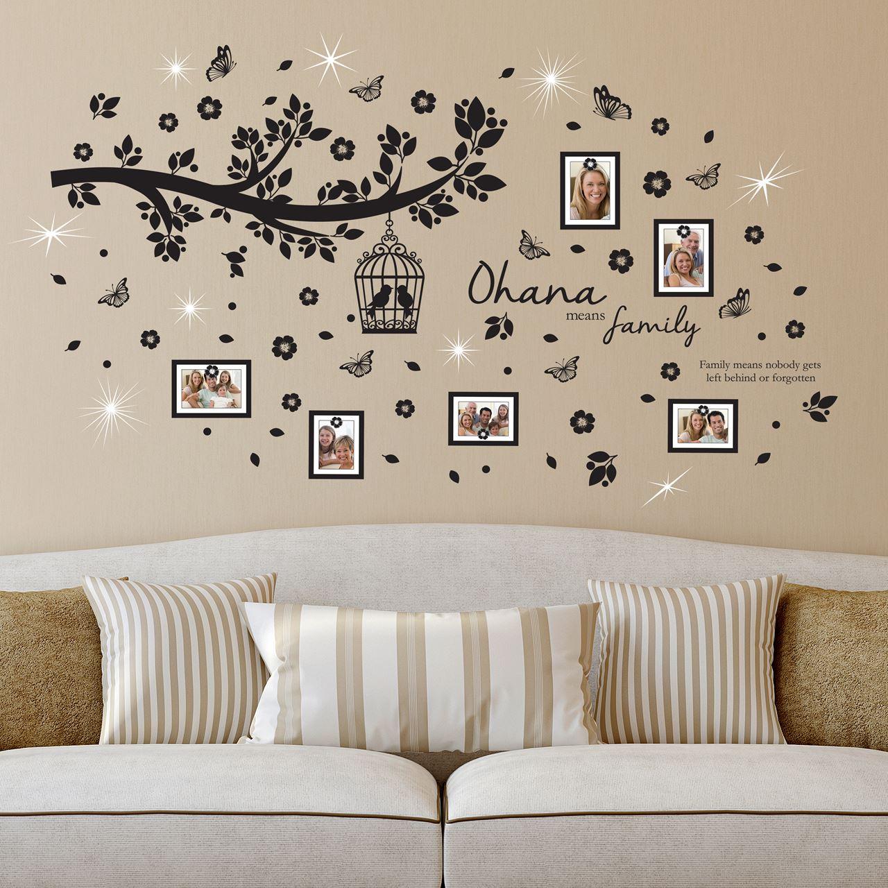 Channeldistribution walplus home decoratie sticker ohana familieboom foto frames met 9 - Home decoratie met tomettes ...