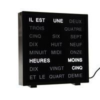 LED Woord Klok - Frans 17x16.5 cm