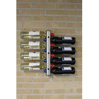 RVS Flessenhouder voor aan de muur – 8 Flessen