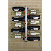 RVS Flessenhouder voor aan de muur – 12 Flessen