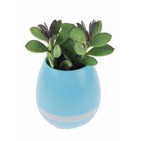 Oplaadbare LED Bloempot met Bluetooth Speaker - Blauw