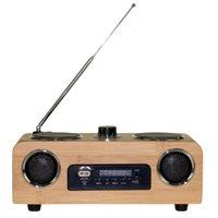 3G Draagbare Stereo Speaker - FM Radio AUX/USB/SD - Bamboe
