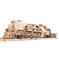 Ugears Houten Modelbouw - V-Express Stoomtrein met Tender